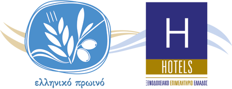 icons for greek breakfast and hotels chamber